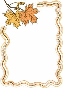 EL REINO DE BEN Y HOLLY: BORDES DE OTOÑO Page Borders Design, Border Design, Borders For Paper, Borders And Frames, Ben Y Holly, Fall Clip Art, Frame Clipart, Autumn Crafts, Binder