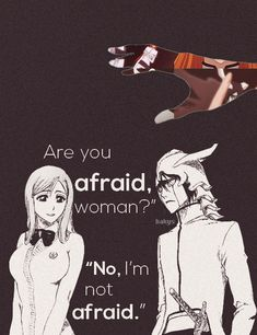 *Bleach anime spoiler warning* Orihime and Ulquiorra. The only reason why I like her is because she helped to fill the void in Ulquiorra's chest by giving him a heart. He had no bonds and Orihime established that for him, giving his existence a meaning. (I don't like Orihime but props to her for doing something good). It's even sadder Ulquiorra discovered this 'heart' moments before his death, very sad indeed, never had a chance to meet more people.