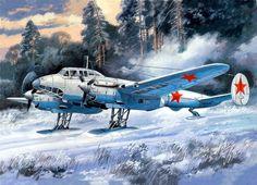 1941 Petlyakov Pe-2 skis - Valery Rudenko