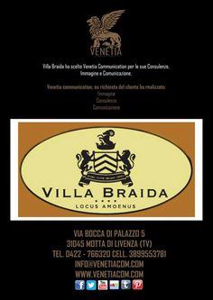 Villa Braida ha scelto Venetia Communication per le sue Consulenze, Immagine e Comunicazione