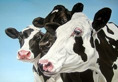 "Saatchi Online Artist Clara Bastian; Oil, Painting ""Cows"""