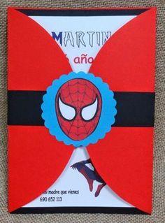 invitaciones del hombre araña en foami