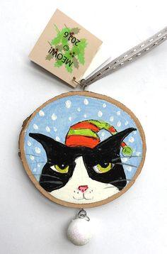 Silent Mylo Tuxedo Cat Ornament  Tuxedo Cat in by SilentMyloStudio