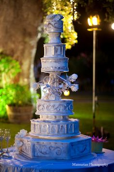 Fancy That! Events, Saddlerock Ranch Wedding, Extravagant Wedding Cake