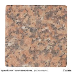 Spotted Rock Texture Lively Pattern Orange Black Coaster