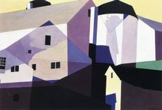Composition Around Yellow Artwork By Charles Sheeler Oil Painting & Art Prints On Canvas For Sale Yellow Artwork, Cityscape Art, Contemporary Paintings, Canvas Art Prints, Architecture Art, Art Boards, Home Art, Illustration, Art Photography