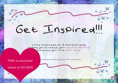 Free 20 page mixed media & inspiration guide from iris-impress