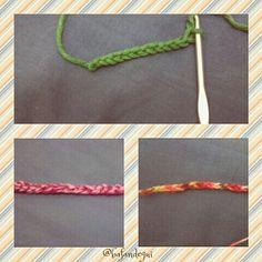 Mis primeras cadenetas hechas con ganchillo // My firt chains with a hook #crochet #ganchillo #cadenetas #tejermola #tejeresmisuperpoder #tejemosysomosmodernos #knitting #iloveknitting #hook #chains #instaknitting #knittersofinstagram #iknitters #instacrochet #baftani
