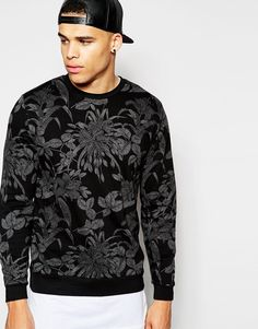 ASOS+Sweatshirt+With+Floral+Print