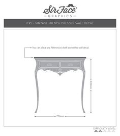 Vintage French Dresser Wall Decal Furniture by SirFaceGraphics