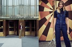 Veronika Heilbrunner wearing the Citizens of Humanity Olivia overall in NYC for #heywomancom