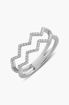 Bony Levy 'Prism' 2-Row Diamond Ring (Limited Edition) (Nordstrom Exclusive) | Nordstrom