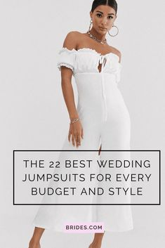 A jumpsuit is a modern and stylish choice for your rehearsal dinner, after-party, or for the ceremony. We've researched the best bridal jumpsuits for every bridal style and budget.