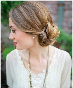 Prom Hairstyles For Medium Length Hair - Low Bun
