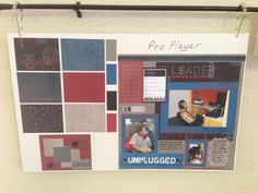 Display board of Pro Player CTMH paper pack samples - shop online at http://cydneyfowlercreations.ctmh.com