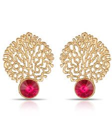Buy Lovely Pink JailWork Desingner Earrings ER-1288 danglers-drop online