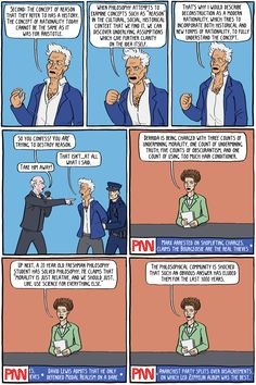 Philosophy News Network: Derrida Arrested - Existential Comics