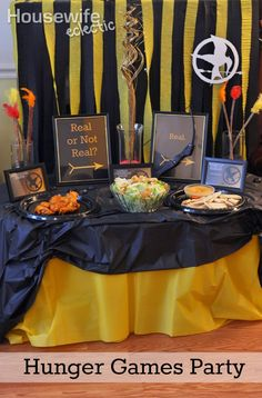 Housewife Eclectic: Real or Not Real? - Hunger Games Party #MC #Mockingjay #Sponsored