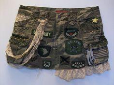 Army skirt camouflage camoflage camo short mini by LamaLuz on Etsy, $32.00