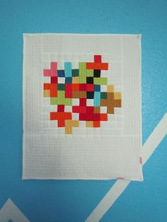 Quilt...looks like a VERY pixelated picture and I can't stop staring at it...:P
