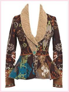 Farb-und Stilberatung mit www.farben-reich.com - Ivko jacket Merino extrafine brow with fun furs front view
