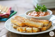 Mini Grilled Cheese Sandwiches | Inspired by Charm. Sharp Cheddar and Kerrygold's Dubliner