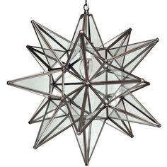 Moravian Clear Glass Star Light