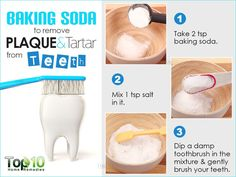 Teeth Whitening Remedies Baking Soda To Remove Plaque and Tartar - If you are looking for natural teeth whitening that works, you are in the right place. Our post includes home remedy ideas you will love to try. Teeth Whitening That Works, Teeth Whitening Remedies, Natural Teeth Whitening, Skin Whitening, Whitening Kit, Top 10 Home Remedies, Natural Home Remedies, Teeth Health, Oral Health