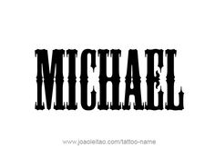 Page with 31 different designs / fonts style for the angel name Michael. Make Michael angel name tattoo. Choose your favorite name design from this list. Share