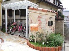 門柱 モルタル造形