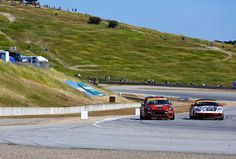 Perfect corners on a perfect day. The MINI John Cooper Works team in its element at Laguna Seca. John Cooper Works, Hit The Floors, A Perfect Day, Vroom Vroom, Building, Mini, Cards, Buildings, Construction