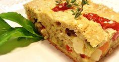 Aprenda a preparar a receita de Torta de legumes com biomassa de banana verde