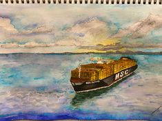 MSC Cargo (@MSCCargo) | Twitter Mediterranean Shipping Company, Twitter, World, Painting, Painting Art, Paintings, The World, Painted Canvas, Drawings