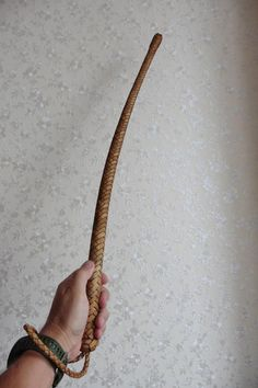 12 braids brown tanned genuine leather cossack volchatka whip | Etsy Self Defense Weapons, Walking Sticks And Canes, Braids, Leather Working, Paracord, The Borrowers, Leather Craft, Bird Trap, Bushcraft Gear