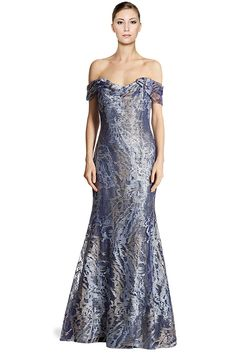6fed52c6b8653 Rene Ruiz Embellished Tulle Off Shoulder Mermaid Evening Gown Dress at Amazon  Women s Clothing store