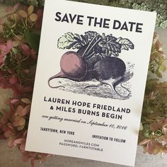 Illustrated Farm to Table Inspired Wedding Invitations