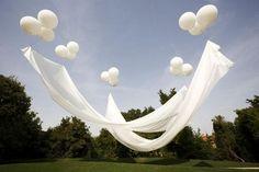 Foto: geweldig idee ,vullen met helium en ook heel goed binnen te gebruiken in hoge ruimtes. Geplaatst door yodai op Welke.nl