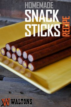 Walton's Homemade Snack Sticks (Meat Sticks) Recipe! Need help? Venison Snack Stick Recipe, Beef Sticks Recipe, Venison Summer Sausage Recipe, Summer Sausage Recipes, Homemade Sausage Recipes, Venison Recipes, Homemade Jerky, Pepperoni Recipes, Smoker Recipes