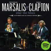 Marsalis y Clapton...  El blues es uno de los géneros musicales que, a mi criterio, más conexión exige al artista con su instrumento.  El Jazz es el choque catatónico de sincopas y silencios. Tertulias de sonidos que se odian, que desentonan, pero suenan maravilloso cuando están juntos.