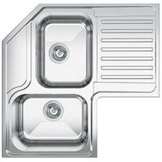 Corner Sink, Pantry Design, Stainless Steel Sinks, Honda Logo, Kitchen Sink, New Homes, How To Plan, Home Decor, Euro
