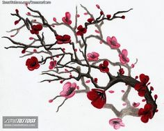 Plantilla/Diseño Tatuaje de kanncerbero - Árboles Cerezos
