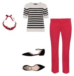 """""""Untitled #178"""" by aayushis on Polyvore featuring French Connection, Gucci, Giorgio Armani and One Button"""