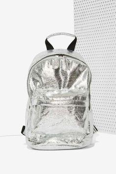 Nasty Gal x Nila Anthony Shine On Foil Backpack