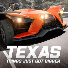The Slingshot is legal in Texas. Polaris Industries, Polaris Slingshot, Cool Gear, The Ordinary, Cycling, Bike, In This Moment, Country, Texas