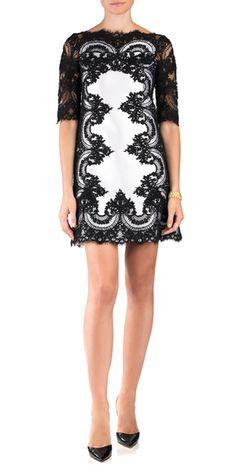 Marchesa Lace A-Line Dress
