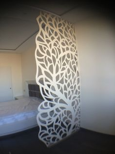 I guess it can be done in MDF too Decorative Screens, Decor, Metal Screen, Cnc Design, Wall Paneling, Room Partition Designs, Ceiling Design, Metal Design, Lasercut Design