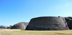 Fourth yacata pyramid on the south end of the line in Tzintzuntzan  Nov 15, 2009