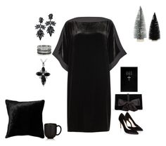 """""""Velvet"""" by polymorphing ❤ liked on Polyvore featuring Eileen Fisher, Monsoon, Ann Taylor, Fallon, Bernard Delettrez, Squarefeathers and Jars"""