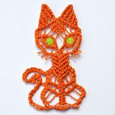 macrame cat tutorial Макраме кот