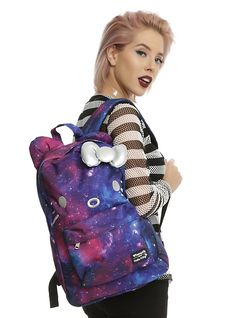 Loungefly Hello Kitty Galaxy Canvas Backpack,